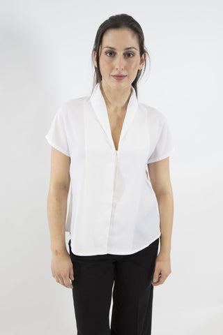 Sketch London taylor white vintage inspired collar blouse shirt work office smart casual ethical sustainable