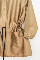 Sketch London Fashion gold safari jacket contempoary summer anorak ethical sustainable british style