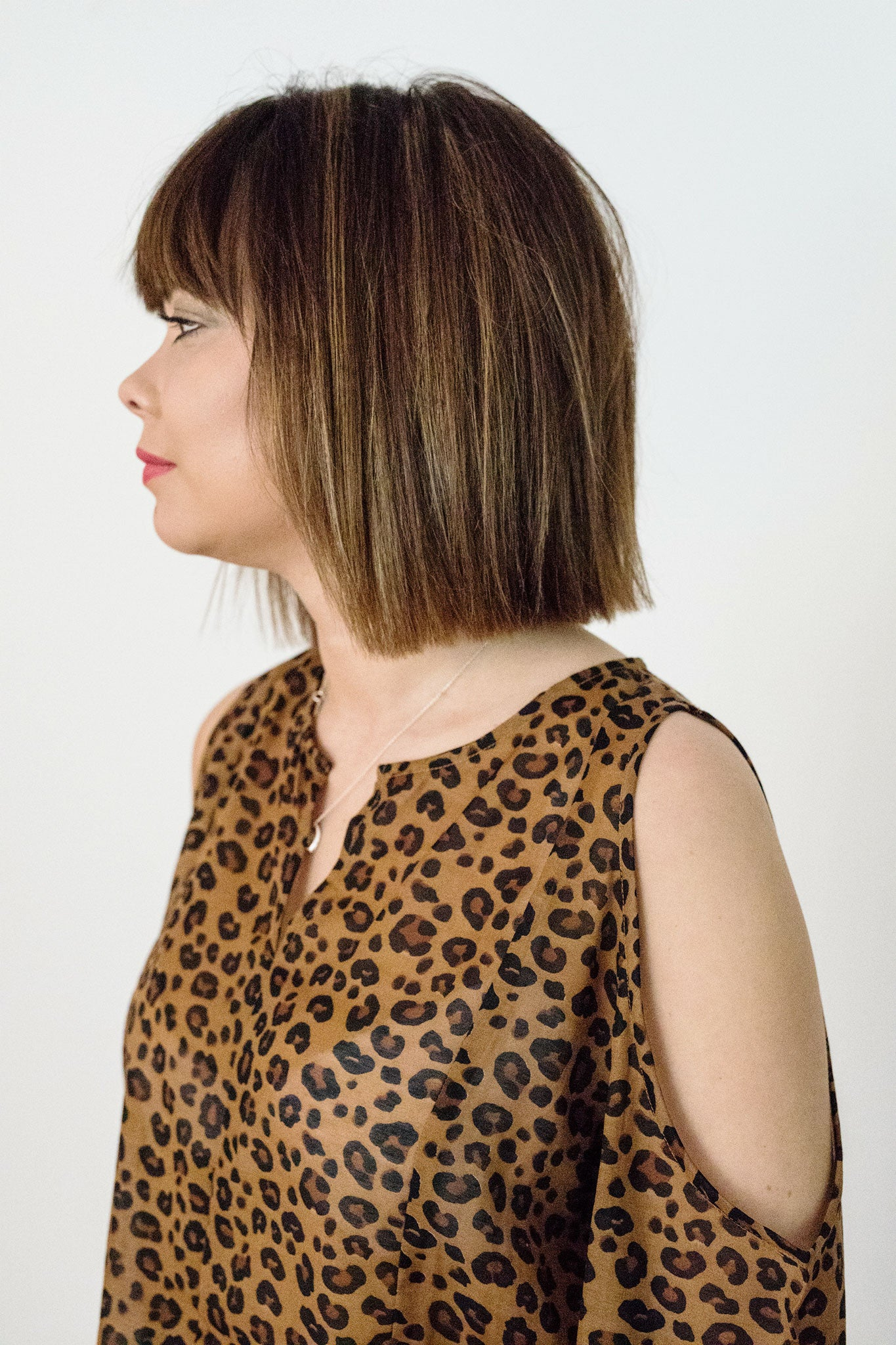 Sketch London Fashion Leopard print cut out shoulder top ethical sustainable british brand