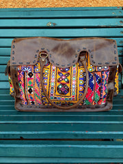 Shimla Antique Embroidery & Leather Bag Sketch London Ethical Fashion Women