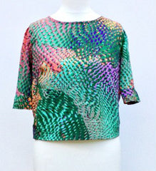 Sketch London Fashion Milly Button Back Top Green Print Instagram