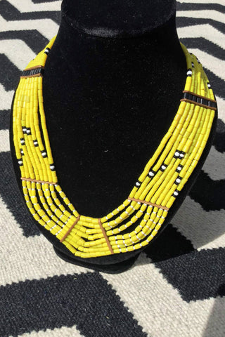Little Miss Sunshine Tribal Bead Necklace