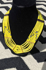 Sketch London Fashion Genuine Naga Tankul Tribal Necklaces Sunny Yellow Exclusive Gift for Women UK