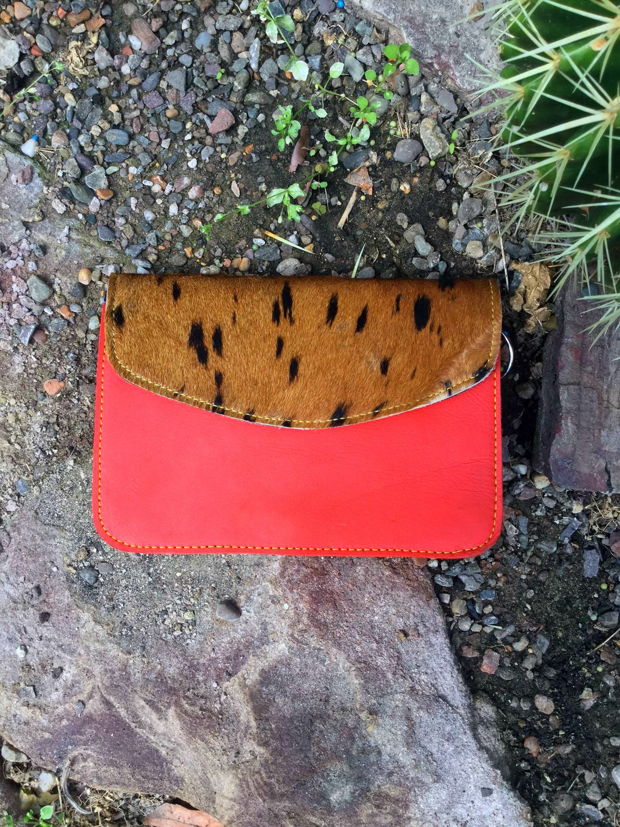 Sketch London animal pony print bags coral red envelope ethical sustainable british design gift women