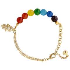 Sketch London Chakra Charm Bracelet Hand of Fatima Yoga Sprititual Colour Balance