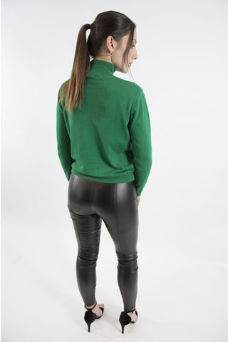 Grace Polo Neck, Emerald Green