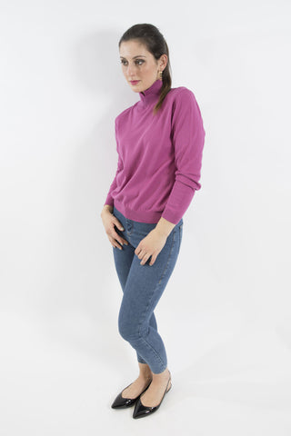 Grace Polo Neck, Pink