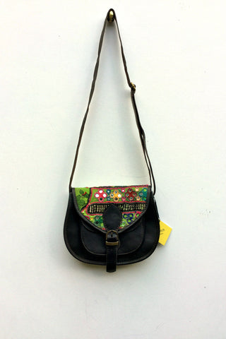 Shimla Antique Embroidery & Leather Bag: Dotty