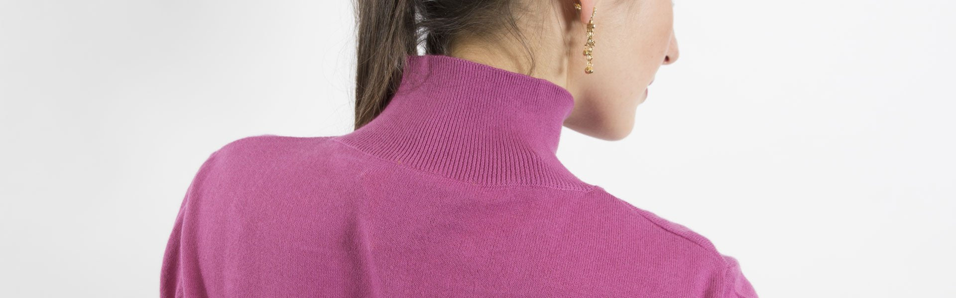 Sketch London Knitwear Pink Polo Neck