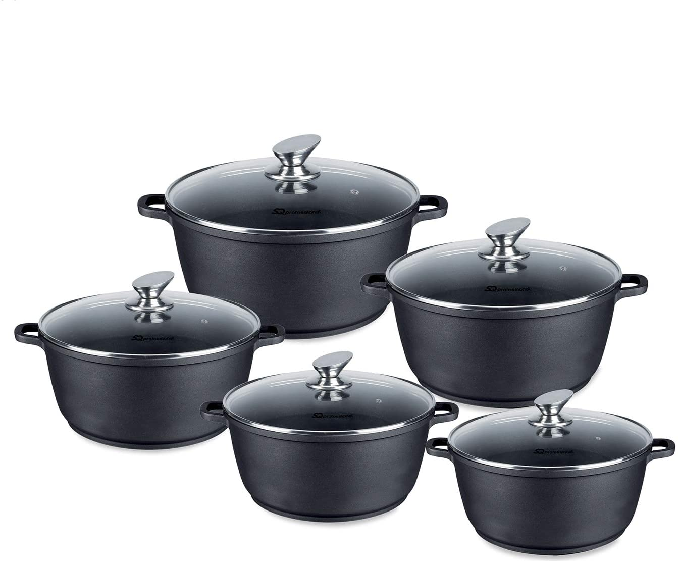 5PC NEA NON-STICK Die Cast STOCKPOT SET