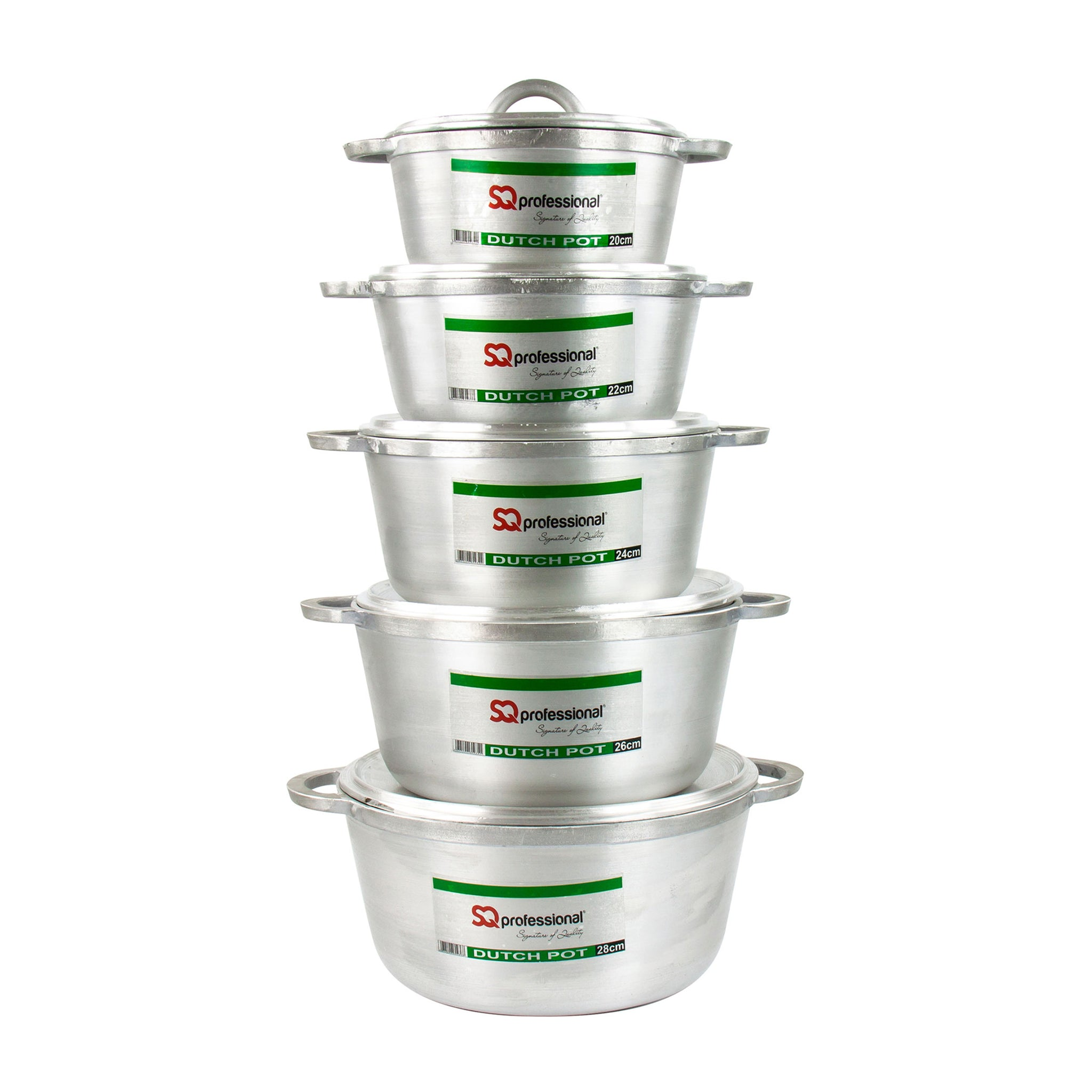 Dutch Pot Aluminium 5 Pcs Set