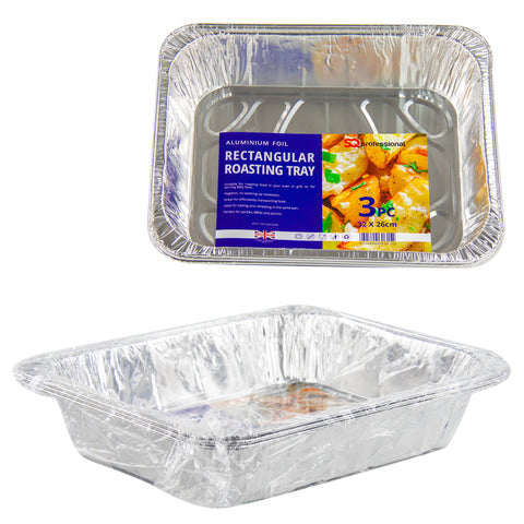 DISPOSABLE ROASTING TRAY 3 PCS