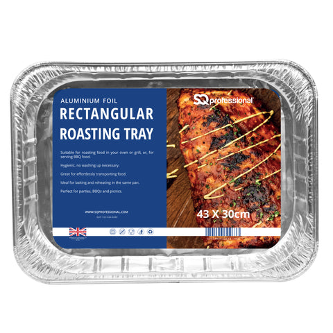 DISPOSABLE RECTANGULAR ROASTING TRAY 1 PCS