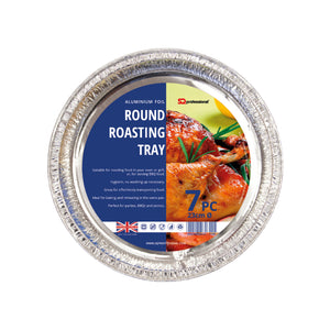 DISPOSABLE ROUND ROASTING TRAY 7 PCS