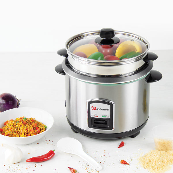 SQ PROFESSIONAL LUSTRO 1.8LTR STAINLESS STEEL RICE COOKER