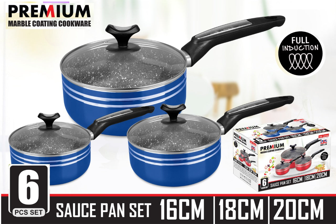 PREMIUM SAUCE PAN SET 6 PCS