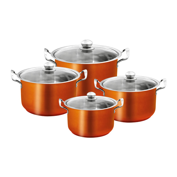 SQ PROFESSIONAL STAINLESS STEEL POT SET 4 PCS
