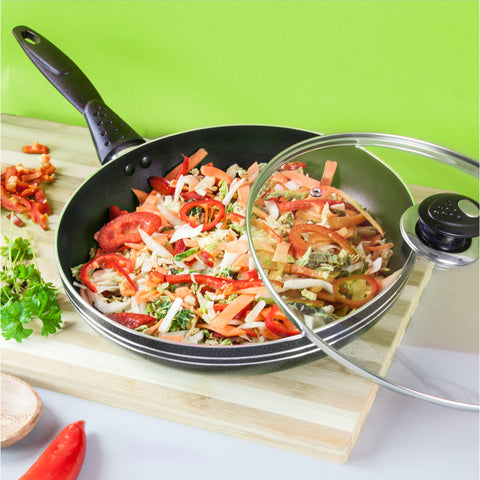 NONSTICK FRYING PAN WITH LID