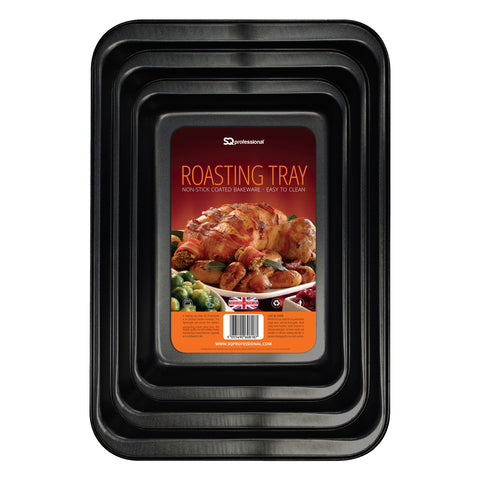 NON STICK ROASTING BAKEWARE 3 PCS SET TRAY