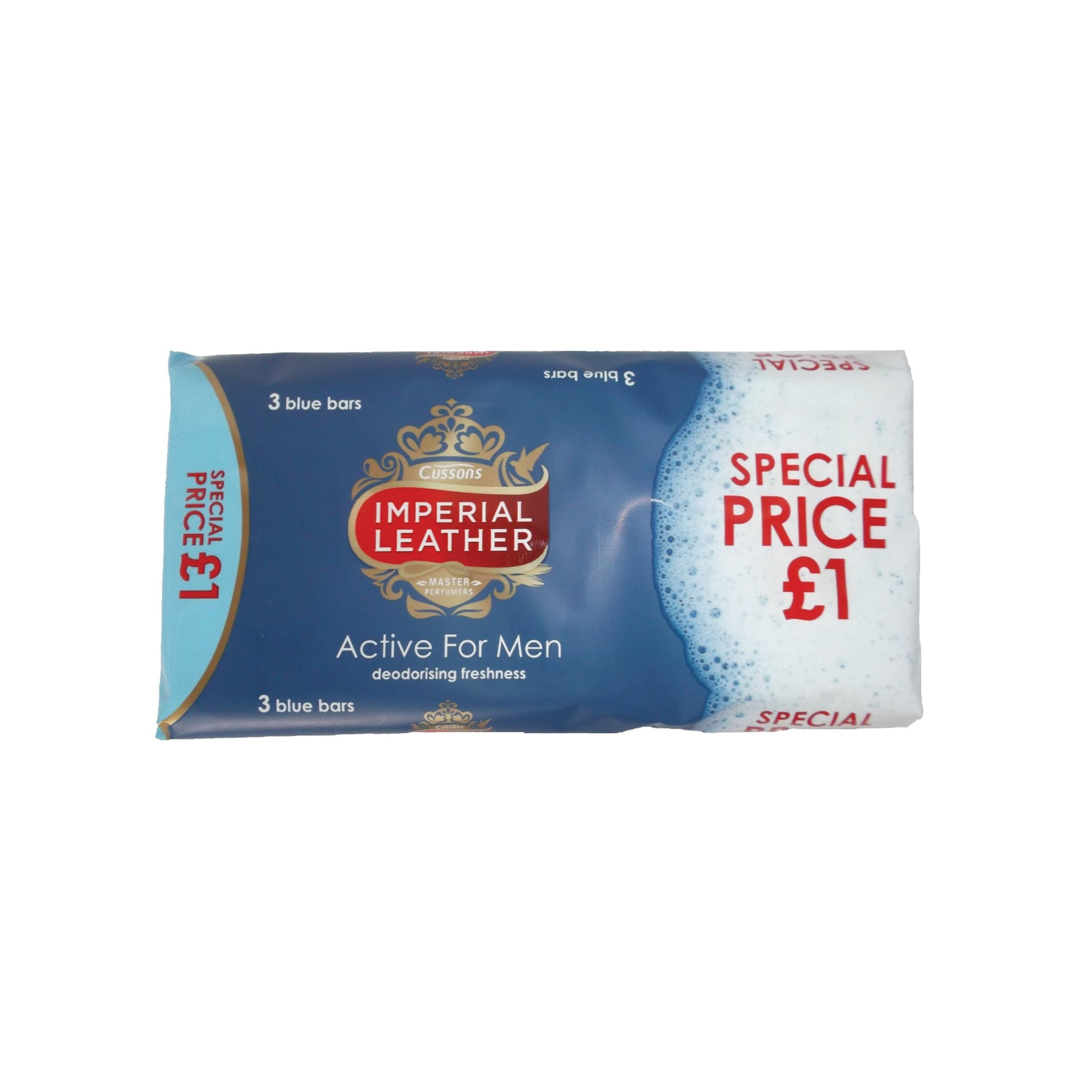 IMPERIAL LEATHER SOAP 3 BARS