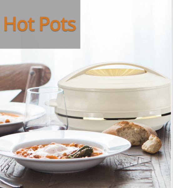 HOT POTS - 4PC OLYMPIC HOT COLD ROUND INSULATED CASSEROLE SET