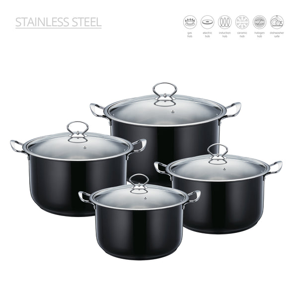 SQ PROFESSIONAL STAINLESS STEEL STOCKPOT SET 4 PCS