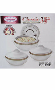 CLASSIC HOT POTS - 3PC INSULATED FOOD WARMER HOT POT CASSEROLE SET