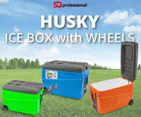 ICE CHESTS - HUSKY ICE BOX WITH WHEELS