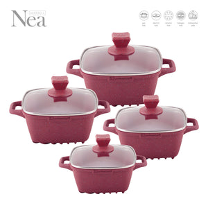 NEA MARBLE  DIE CAST 4 PC SET