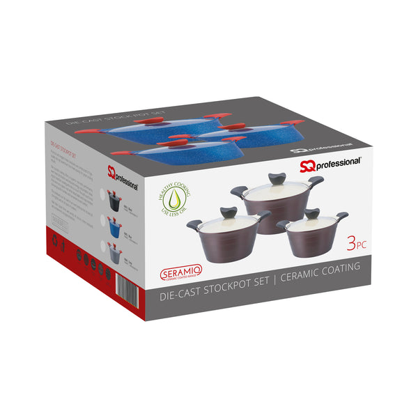 SQ PRO DIE CAST POT 3 PC SET