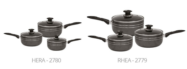 3PC UNA RANGE NON-STICK SAUCEPAN SET