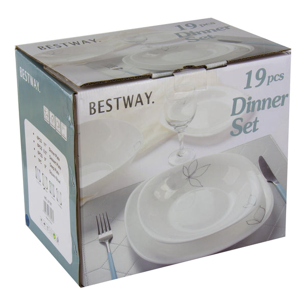 HEAT RESISTANT BESTWAY DINNER SET 19 PCS