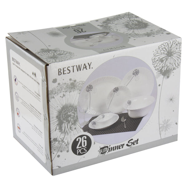 HEAT RESISTANT BESTWAY DINNER SET 26 PCS