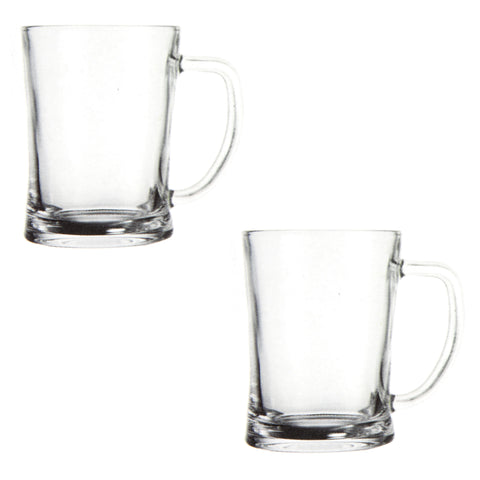 HIGH QUALITY GLASS MUGS 2 PCS