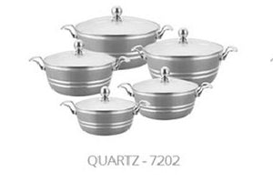 5PC METALLIC DIE CAST STOCKPOT SET