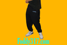Load image into Gallery viewer, Foddy Black  baggy sweatpants for indianapolis dreamers