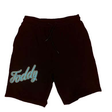 Black Sweat Shorts - Ice Blue