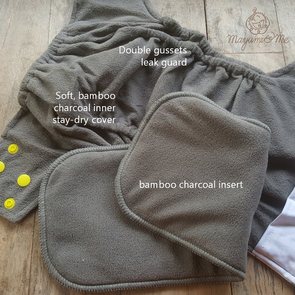 Bamboo Charcoal Pocket Diapers