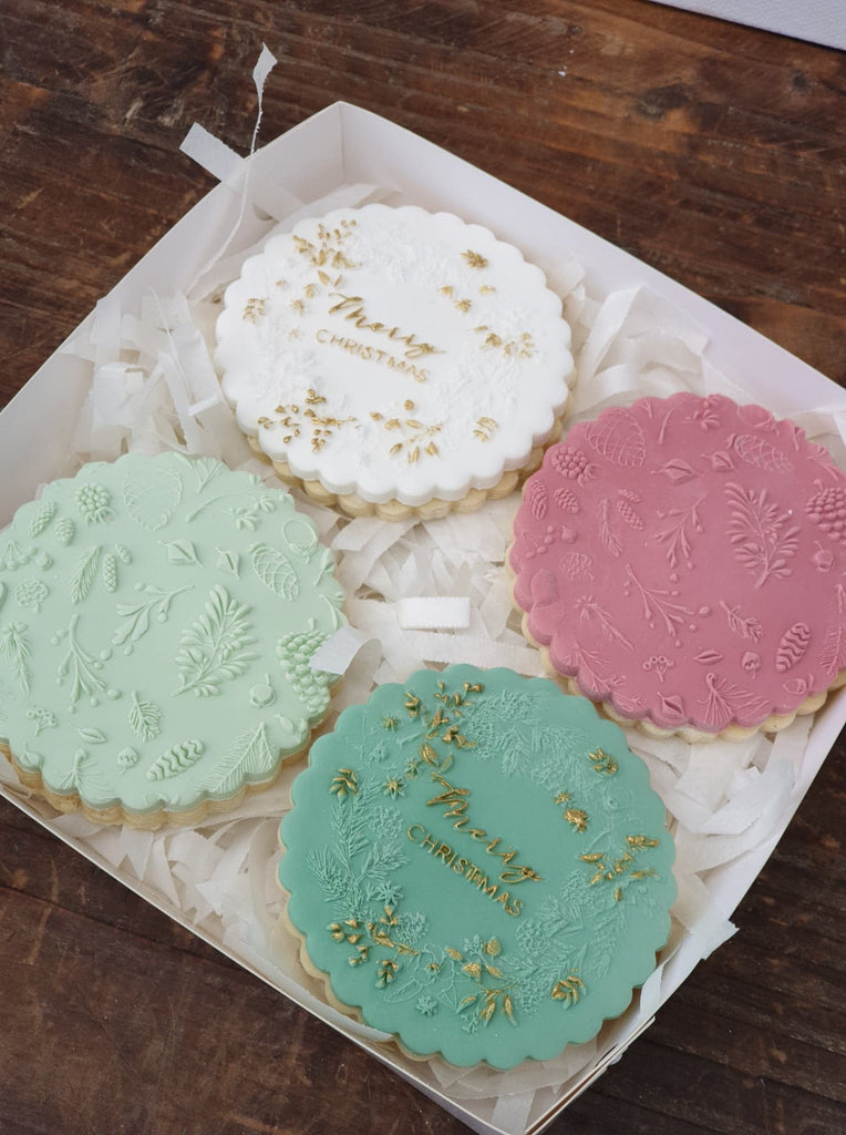 Botanical Christmas Cookies