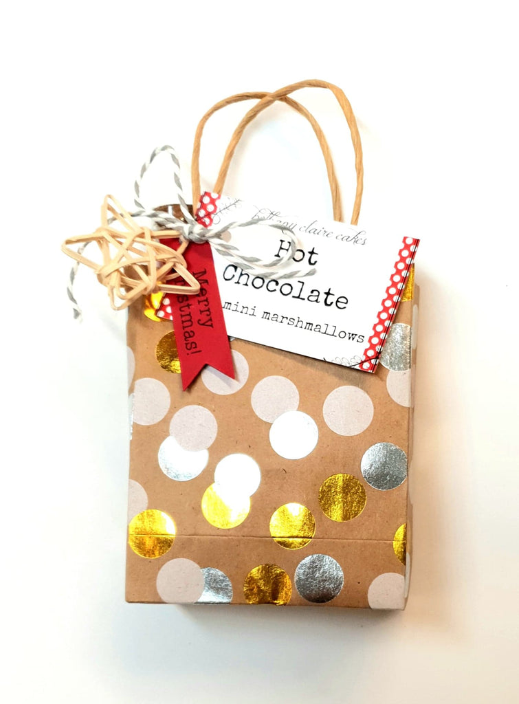 Hot chocolate and cookies gift bag
