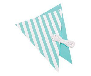 3 metre striped bunting in 8 colours