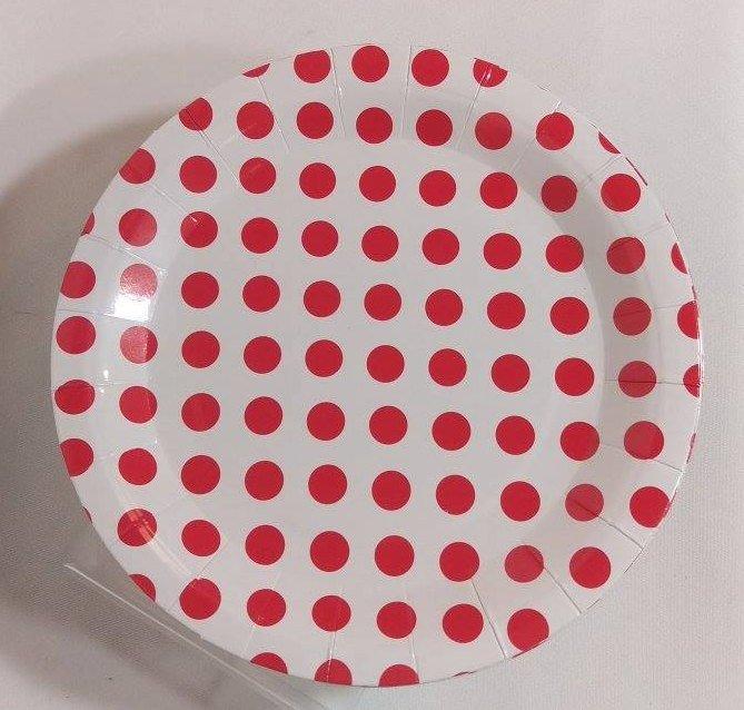 Red and White Polka Dot Plates