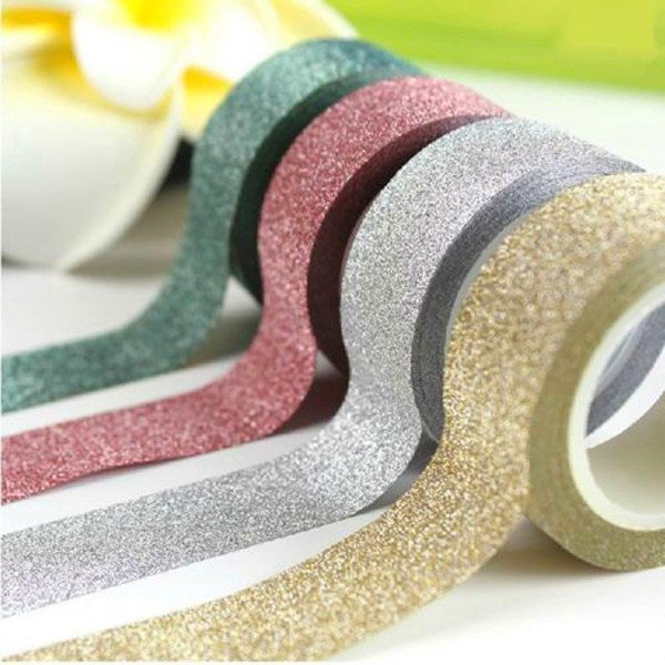 Glitter washi tape in 5 colours