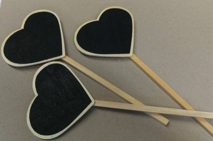 Heart chalkboards, 6 pack