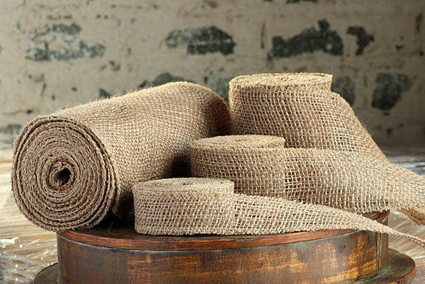 Hessian ribbon in 3 sizes