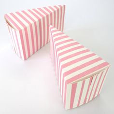 Robert Gordon Pink stripe wedge cake box