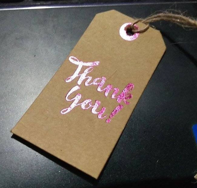 Pink foil Thankyou cards