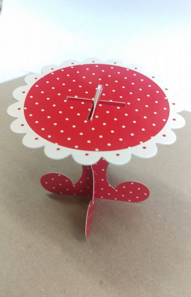 Red and White Polka Dot Cupcake Stands