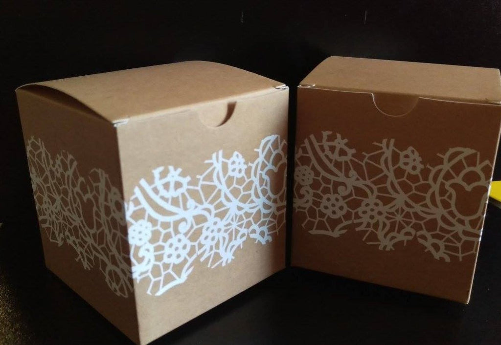 Kraft and Lace Print boxes