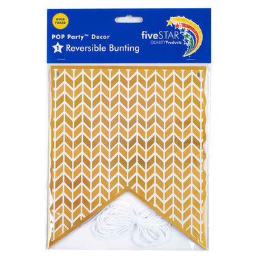 Five Star Gold Geometric bunting